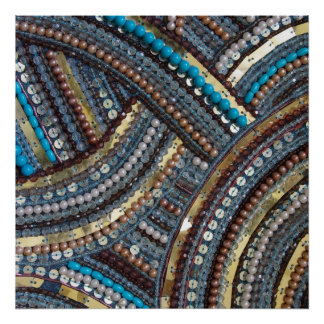 Elegant turquoise sequined poster