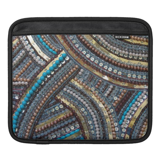 Elegant turquoise sequined sleeve for iPads