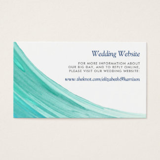 Elegant Turquoise Tides Beach Wedding Website Business Card