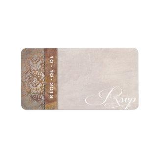 Elegant Tuscan Damask Italian RSVP Custom Address Labels