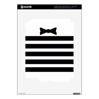 Elegant Tuxedo Black and With Pattern Gifts Decal For iPad 3