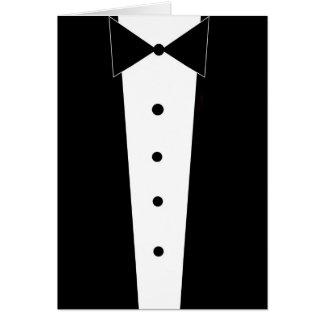 Elegant Tuxedo Blank Inside Greeting Card