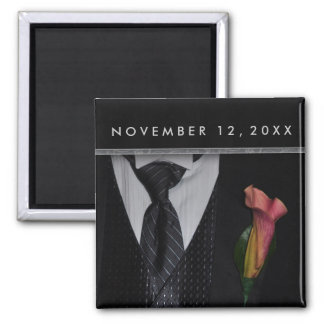 Elegant Tuxedo design Fridge Magnets