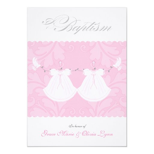 Twin Baptism Invitations correctly perfect ideas for your invitation layout