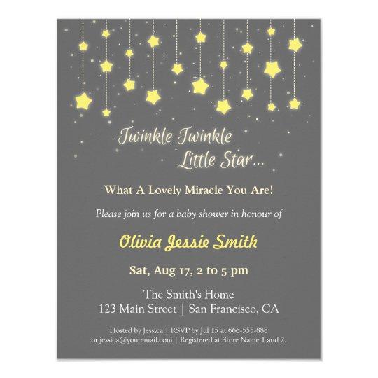 elegant twinkle twinkle little star baby shower card   zazzle, Baby shower invitations