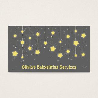 Elegant Twinkling Stars Babysitting Business Cards