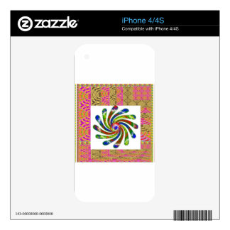 ELEGANT Twirl Wheel art iPhone 4 Skins