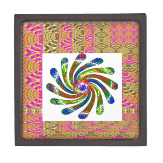 ELEGANT Twirl Wheel art Keepsake Box