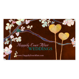 Elegant Two Hearts Wedding Planner Business Cards