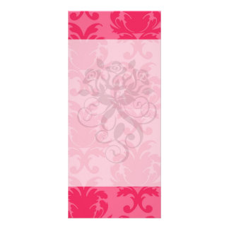 elegant two tone pink damask pattern rack card