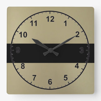 Elegant Two Tone Square Wall Clock