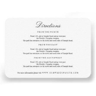 Elegant Type Black White Directions Insert Card Invites