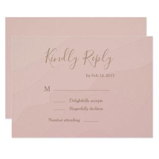 Elegant type blush coral watercolor wedding rsvp invitation