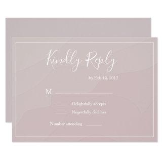 Elegant type blush pink watercolor wedding rsvp invitation