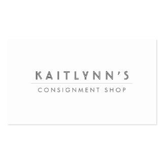 ELEGANT TYPE TREATMENT WHITE Business Card
