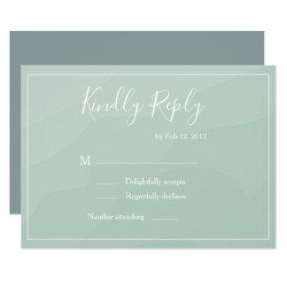 Elegant type turquoise watercolor wedding rsvp invitation
