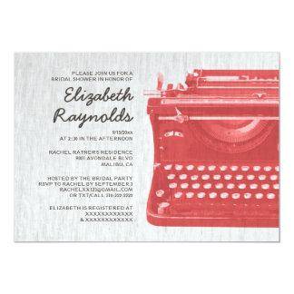 Elegant Typewriter Keys Bridal Shower Invitations Announcements