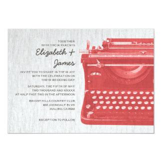 Elegant Typewriter Keys Wedding Invitations Personalized Invite