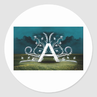 Elegant Typography Classic Round Sticker