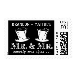 Elegant Typography Mr & Mr Wedding Postage