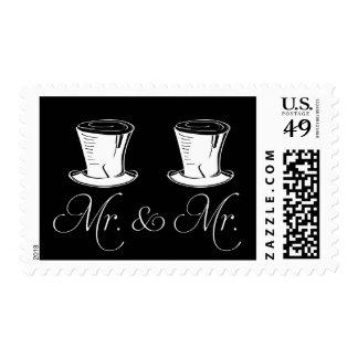 Elegant Typography Mr & Mr Wedding Postage