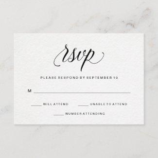 Elegant Typography on Watercolor Paper RSVP