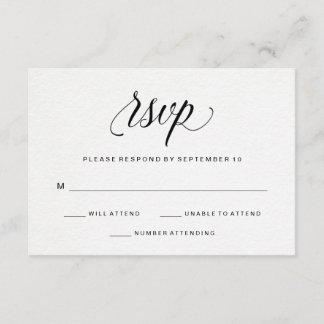 Elegant Typography on Watercolor Paper RSVP