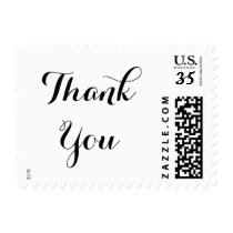 Elegant Typography Thank You Wedding Postage Stamp