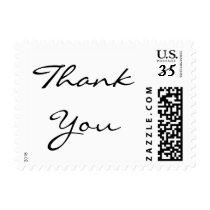Elegant Typography Thank You Wedding Postage Stamp