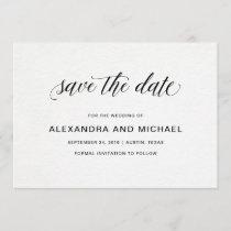 Elegant Typography | Wedding Save the Date