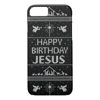 Elegant Ugly Christmas Sweater Christian Religious iPhone 7 Case