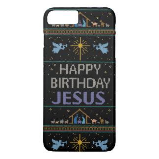 Elegant Ugly Christmas Sweater Christian Religious iPhone 7 Plus Case