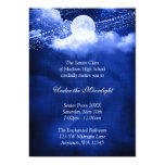 Elegant Under the Moonlight Prom Formal Dance 5x7 Paper Invitation Card