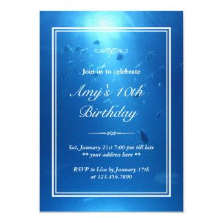 Elegant Underwater Sea Theme Birthday Party Invite