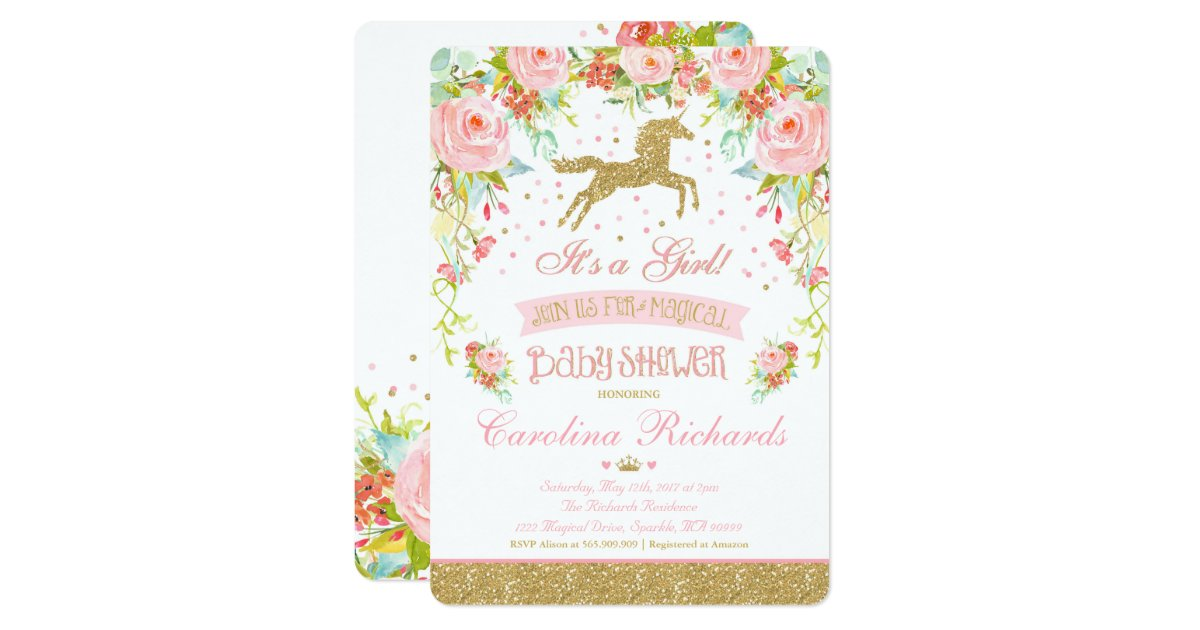 Elegant Baby Shower Invitations & Announcements | Zazzle