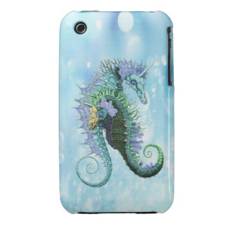 Elegant unicorn seahorses iPhone 3 cases