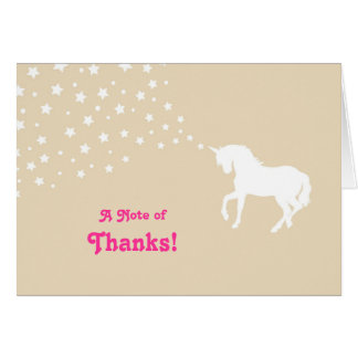 Elegant Unicorn Thank You Card