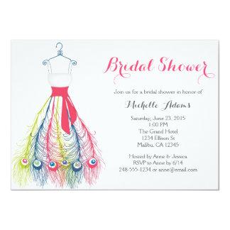 Elegant Unique Gown Bridal Shower Invitations