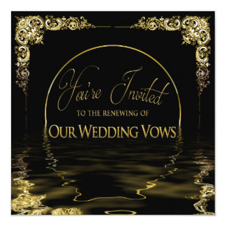 Elegant & Unique Renewing Wedding Vows Invitation