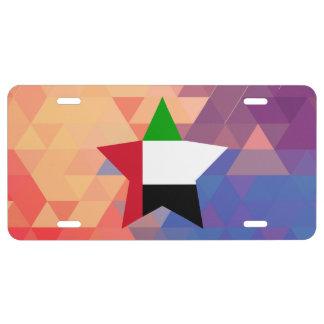 Elegant United Arab Emirates flag heart License Plate