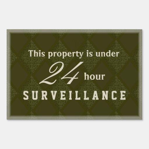 Elegant Upscale Video Surveillance Sign