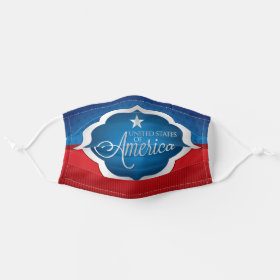 Elegant USA Independence American Patriotic Cloth Face Mask