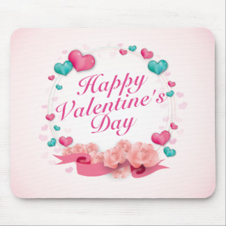 Elegant Valentine's Day Candy Hearts Mousepad