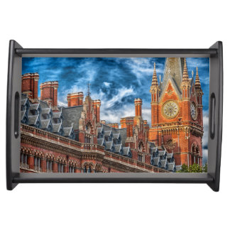 Elegant Vanity Tray featuring a scene from London