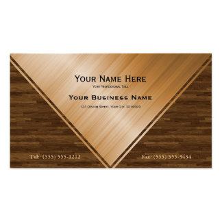 Elegant Varnished Wood Inlay Business Card Templates