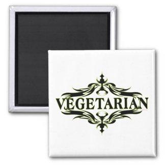 Elegant Vegetarian 2 Inch Square Magnet