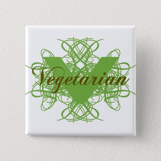 Elegant Vegetarian Button