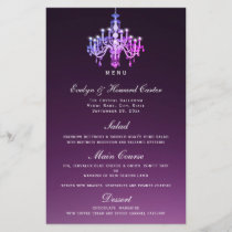 Elegant Venetian Chandelier | Menu Card