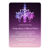 Elegant Venetian Chandelier | Wedding Invitation