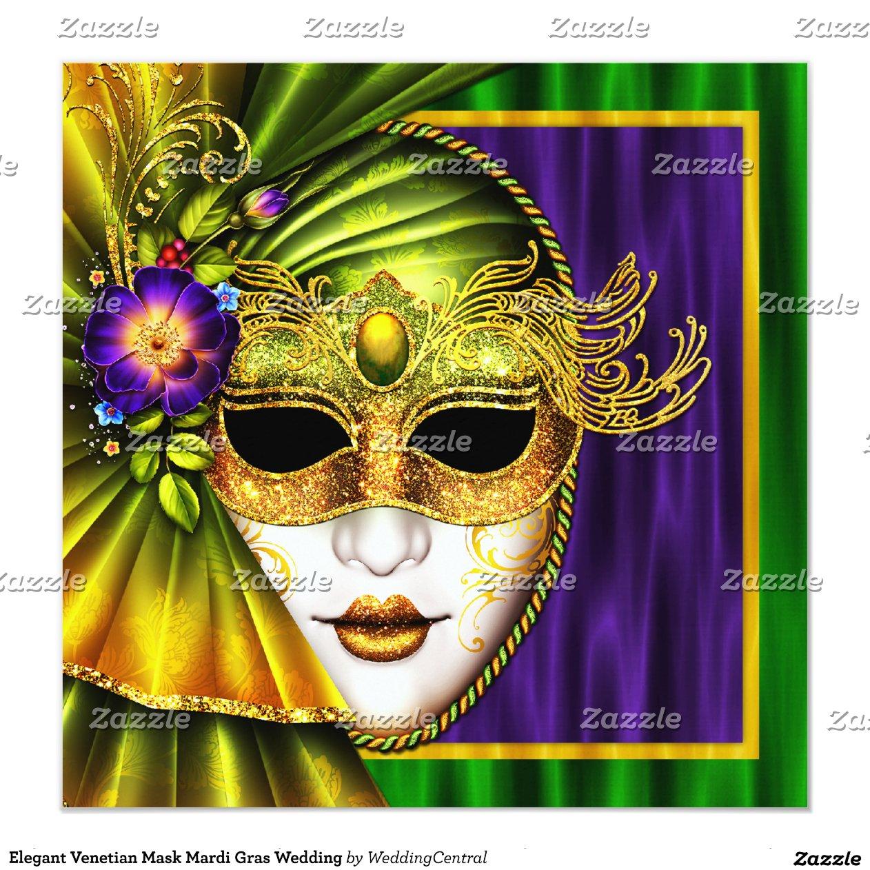 elegant_venetian_mask_mardi_gras_wedding_invitation ...